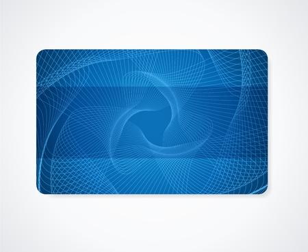 guilloche pattern: Tarjeta azul marino de negocios, tarjeta de regalo, tarjeta de descuento plantilla de dise�o con el arco iris de garant�a de marca de agua Resumen de vectores de dise�o de fondo