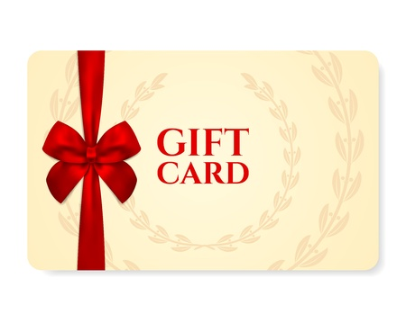 Gift card  discount card Vector