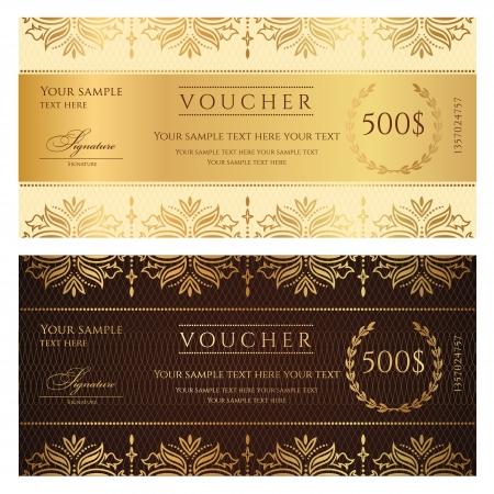 Voucher Gift certificate Vettoriali