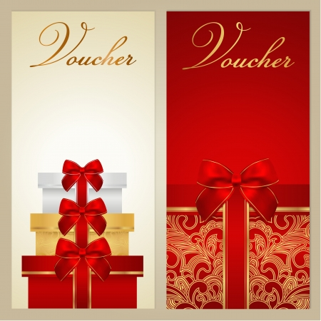 presents: Voucher Gift certificate Illustration