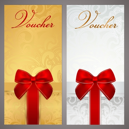 vinous: Voucher Gift certificate Illustration
