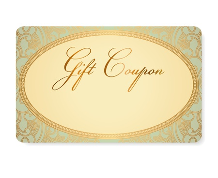 turquoise gift coupon Stock Vector - 21824681