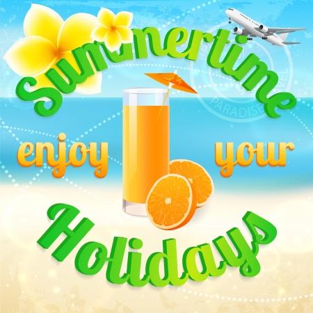 summer vacation  Vector