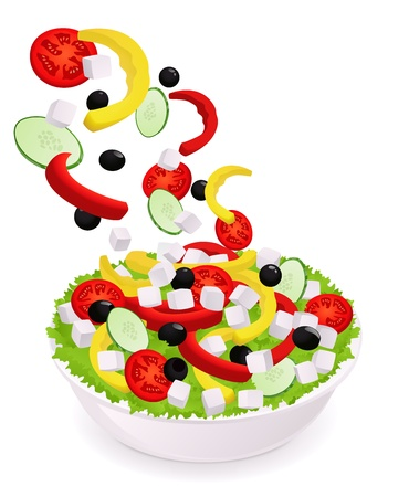 Greek Vegetable salad  pepper