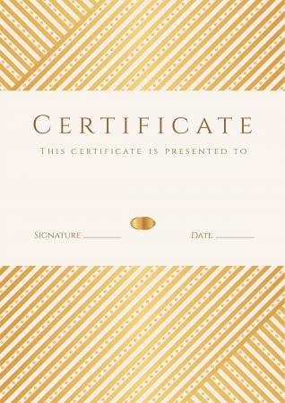 dersleri: Belgesi, tamamlama şablon Diploma, altın çizgili hat model, Başarı çerçeve Belgesi, ödül, kazanan, diploması, iş Eğitim Kursları, dersleri ile arka plan