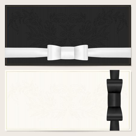lazo regalo: Modelo de la tarjeta de regalo con el arco de la cinta negro de la pajarita roja Vectores