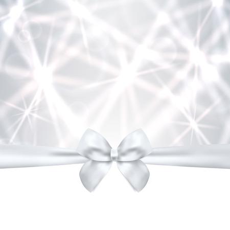 celebração: Cartão do feriado, cartão de Natal, cartão de aniversário, modelo de prata do cartão do presente do cartão com arco, fita presente, espumante, cintilantes estrelas projeto Celebração de fundo para convite