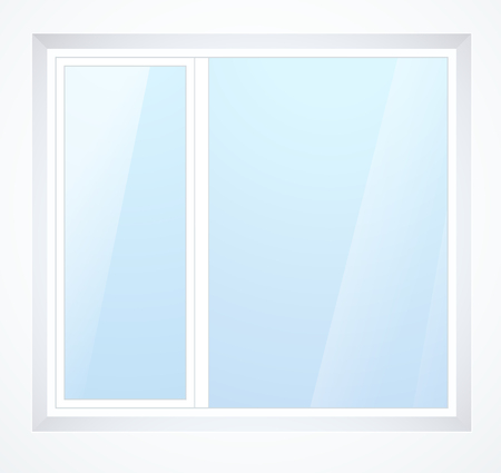 plastic window with white frame Stock Vector - 23776301