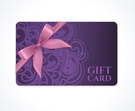certificado: Cup�n de regalo, tarjeta de descuento de la tarjeta de regalo