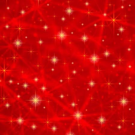 Abstracte rode achtergrond met fonkelende fonkelende sterren. Kosmische glanzende melkwegstelsel sfeer. Vakantie lege achtergrond textuur voor kerst Kerstmis, Gelukkig Nieuwjaar met gloed melkweg elementen fantasie hemel