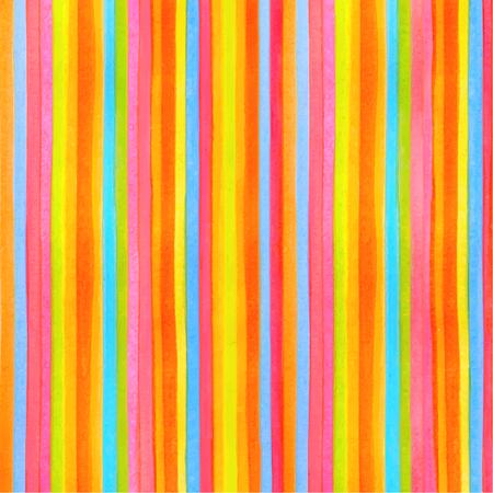 Colorido rayado rayas patrón de fondo. Vector acuarela telón de fondo con la textura del arco iris para cualquier ilustración, diseño gráfico moderno. Rojo. verde, amarillo, naranja, colores azules líneas Ilustración de vector