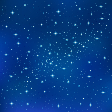 texture fantasy: Abstract Blue background with sparkling twinkling stars. Cosmic shiny galaxy (atmosphere). Holiday blank backdrop texture for Christmas (Xmas), Happy New Year , glow milky way elements (fantasy sky) Illustration