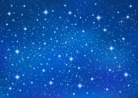Mousseux scintillantes étoiles sur fond bleu abstrait. galaxie brillante Cosmic (atmosphère). Vacances en blanc fond texture pour Noël (Noël), Happy New Year, lueur éléments laiteux façon (ciel imaginaire)
