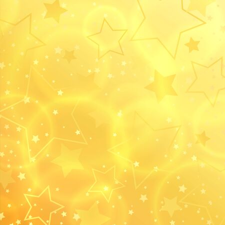 yellow: Star abstract background design. Illustration