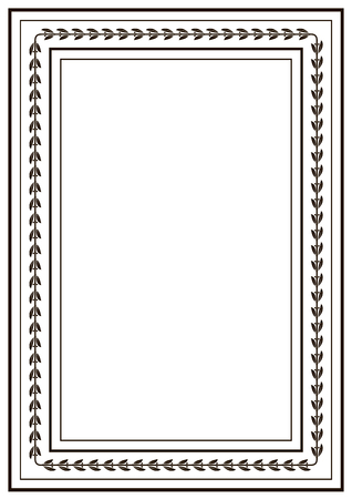 Frame Border Design Template. Black And White Decorative Vector ...