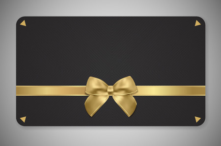 Gift card (Gift card discount), Gift coupon with gold pattern. Golden background design for voucher template design, invitation, ticket. Vector