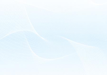 Abstraktes Guillochemuster (komplizierte Linienstruktur des Vektors). Leerer blauer Hintergrund nützlich für Zertifikat, Diplom, offizielles Dokument, formelles Papier Vektorgrafik