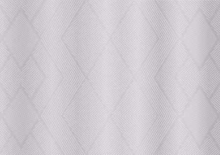 Motif géométrique abstrait argenté. Arrière-plan vectoriel gris blanc (texture de ligne triangulaire) utile pour certificat, diplôme, document premium, invitation, prix