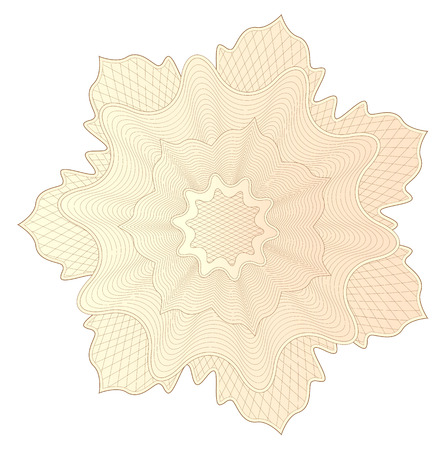 Guilloche pattern, watermark, rosette (line elements) for money design, voucher, currency, gift certificate, coupon, banknote, diploma, check, note Illustration
