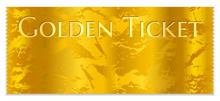Goldene Kinokartenvorlage. Konzertkarte auf Goldgrund mit Wellmuster. Nützlich für jedes Filmfestival, jede Party, jeden Film, jede Veranstaltung, jede Unterhaltungsshow