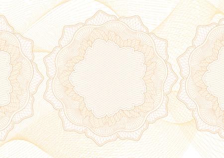Motif guilloché abstrait (texture de ligne compliquée de vecteur). Arrière-plan blanc très détaillé utile pour certificat, diplôme, document officiel, papier formel