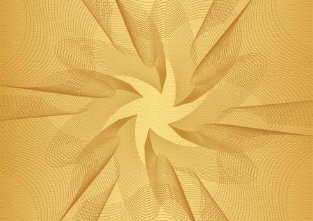 Motif guilloché abstrait (texture de ligne rouge compliquée de vecteur d'or). Arrière-plan vierge utile pour la mise en page de l'entreprise, toile de fond pour le certificat de projet de conception, diplôme, document officiel, papier formel