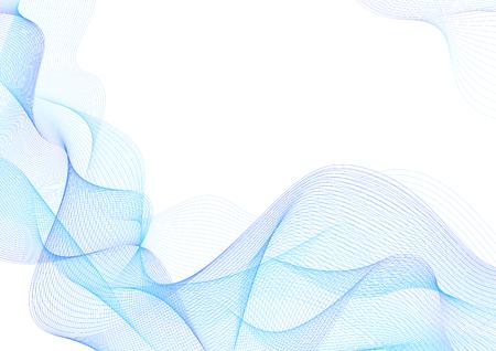 Abstrakcyjny wzór giloszowy (skomplikowana niebieska linia tekstura wektor). Puste tło przydatne do układu biznesowego, tło dla certyfikatu projektu projektowego, dyplomu, oficjalnego dokumentu, oficjalnego papieru Ilustracje wektorowe