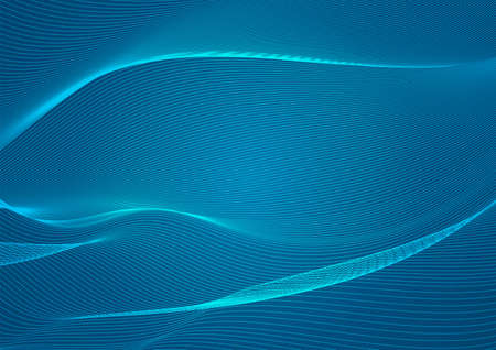 Abstract wavy blue lines (guilloche pattern) useful for certificate, promissory note, diploma, official documents. Blank horizontal template for hi tech technology Vettoriali