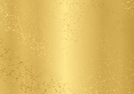 Gold abstract blank background with technology lines. Golden futuristic tech network backdrop for business banner advertise, presentation also useful for certificate or official document design