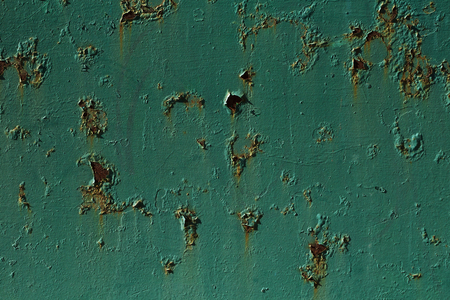 corrosion: Corroded green metal background. Metal background with rusted spots. Stock Photo