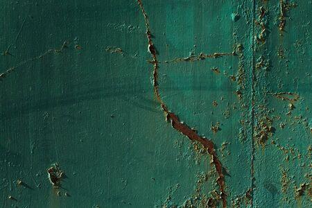Corroded green metal background. Metalen achtergrond met geroeste plekken.