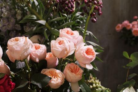 Rose Wedding Bouquet. Flower arrangement of roses