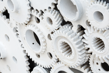 gear wheels like cooperation concept or industrial background Stockfoto