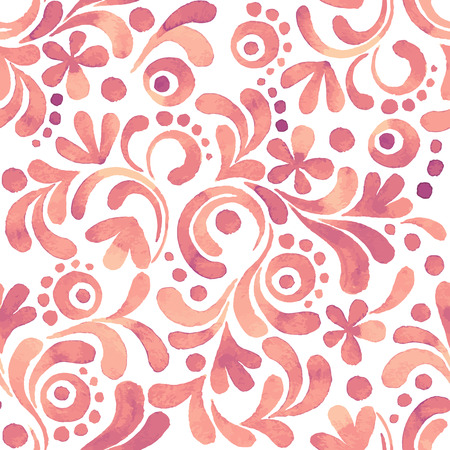 Abstract floral watercolor pattern 3. Seamless background in vector