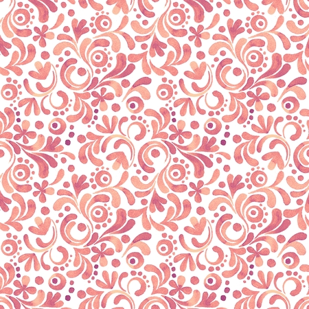 Abstract floral watercolor pattern 4. Seamless background