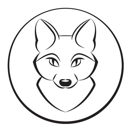 állat fej: Állat fej 4. vektoros illusztráció Illusztráció