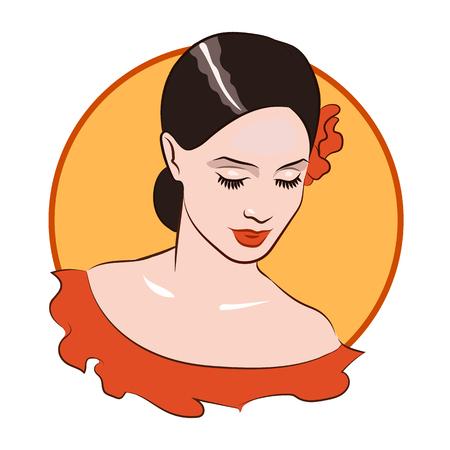 nude girl: Beautiful girl face 1. Flamenco dancer 2