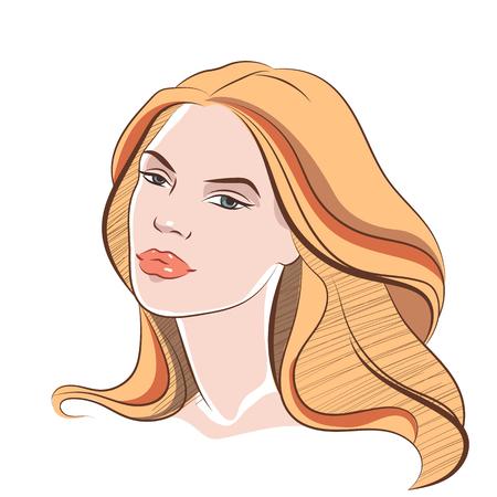 beautiful face: Beautiful female face 3
