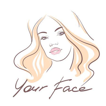 Girl face 1. Vector
