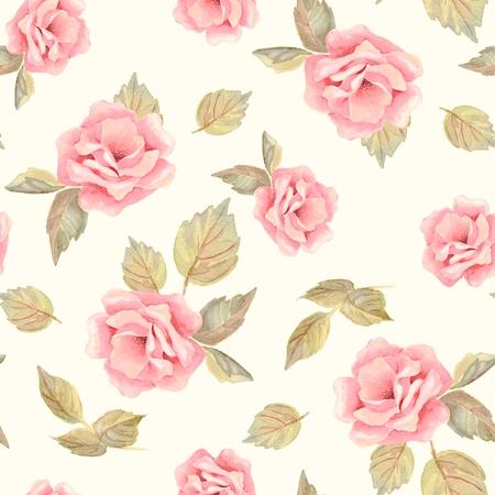 Beautifu hand-drawn flowers. Floral seamless pattern 22 写真素材