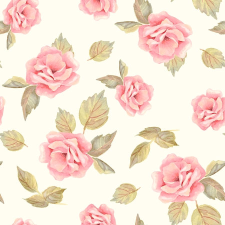 Beautifu hand-drawn flowers. Floral seamless pattern 22 Stock Photo