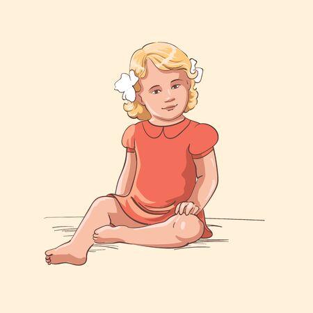 little girls: Little girl 1 Illustration