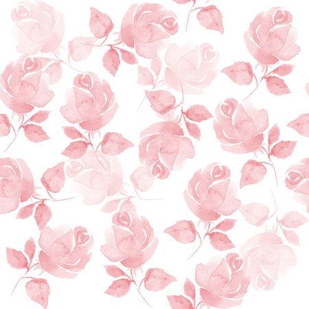Background with beautiful roses. Seamless pattern with hand-drawn flowers 53
