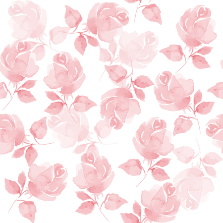 Background with beautiful roses. Seamless pattern with hand-drawn flowers in vector 53