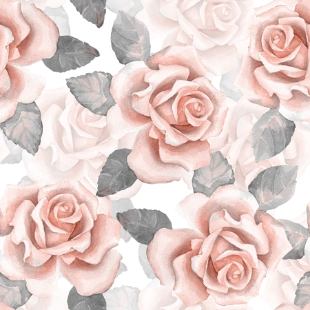 buds: Beautiful buds. Watercolor roses pattern 2