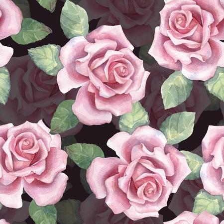 Beautiful buds. Watercolor roses pattern 4