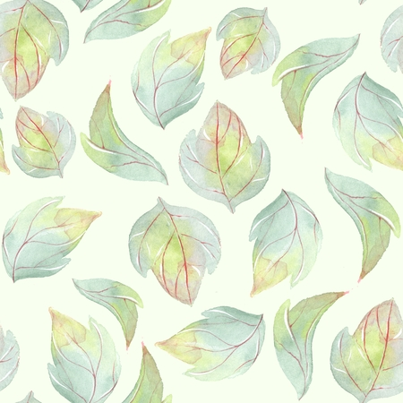 painted the cover illustration: Background with watercolor leaves 1