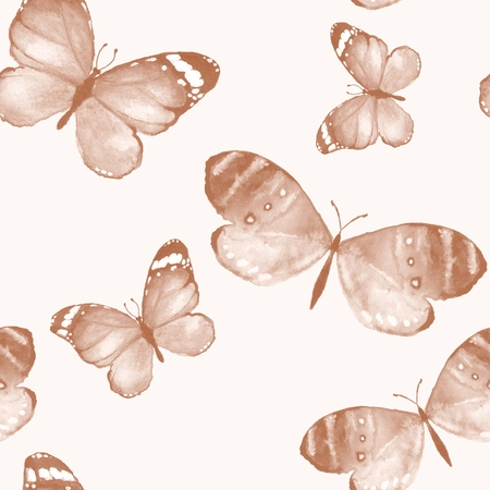 butterfly background: Butterfly 4. Watercolor background Stock Photo