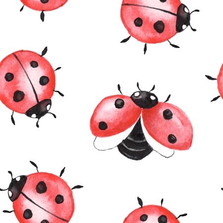 Ladybugs. Seamless pattern 2