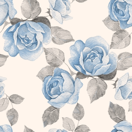 Floral branch. Watercolor seamless pattern 10